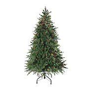 Northlight 7.5' Pre-Lit Medium Hunter Fir Artificial Christmas Tree - Multicolor Lights