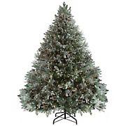Northlight 9' Pre-Lit Green Flocked Jasper Balsam Fir Artificial Christmas Tree - Clear Lights