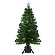 Northlight 4' Pre-Lit LED Artificial Fiber Optic Christmas Tree With Color Changing Stars
