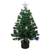 Northlight 3' Pre-Lit Potted Color Changing Fiber Optic Artificial Christmas Tree - Multi Color LED Lights