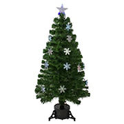Northlight 4' Pre-Lit Color Changing Fiber Optic Artificial Christmas Tree with Snowflakes