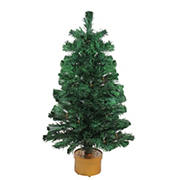 Northlight 3' Pre-Lit Color Changing Fiber Optic Artificial Christmas Tree
