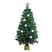 Northlight 4' Pre-Lit Medium Fiber Optic Pine Cone Artificial Christmas Tree - Multicolor LED Lights