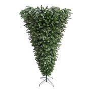 Northlight 7.5' Green Spruce Artificial Upside Down Christmas Tree - Unlit