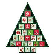 Northlight 15 Green Tree Shaped Christmas Advent Calendar Decoration