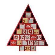 "Northlight 14.5"" Red and White Christmas Tree Advent Calendar Decor"