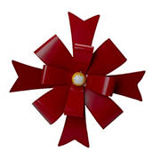 """Northlight 19"""" Red Metal Christmas Bow Wall Decoration"""