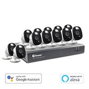 Swann 16-Channel 12-Camera 1080p Security System with Warning Lights