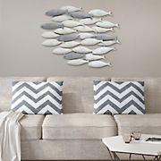 Stratton Home Decor School of Fish Wall Decor - Gray