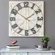 Stratton Home Decor Farmhouse Wall Clock - Rustic