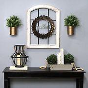 Stratton Home Decor Decorative Window and Wreath Wall Decor