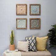 Stratton Home Decor 4-Pc. Boho Tiles Wall Decor
