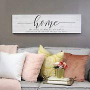 Stratton Home Decor Home Quote Oversized Wall Art - White