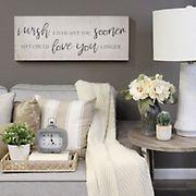 Stratton Home Decor Love You Longer Oversized Wall Art  - White