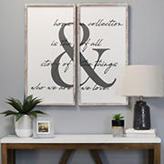 Stratton Home Decor Home is the Story Wall Art, 2 pc. - White, Gray, Black