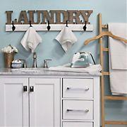 Stratton Home Decor Laundry Wall Hooks - Natural, White, Black