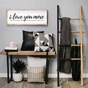 Stratton Home Decor  I Love You More Oversized Wall Art - Natural, White