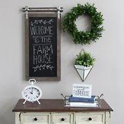 Stratton Home Decor Farmhouse Chalkboard Wall Decor - Dark Natural Wood