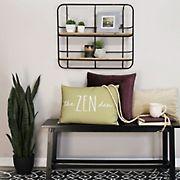 Stratton Home Decor Metal and Wood Wall Shelf