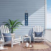Stratton Home Decor Blue and White Beach Wall Art