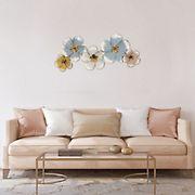 Stratton Home Decor Elegant Metal Floral Wall Decor