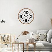 Stratton Home Decor Benjamin Wood Wall Clock