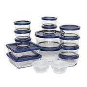 Anchor Hocking 30 Pc. Food Storage Set - Clear with Blue Lids