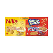 Raymundos Nilla Pieces with Banana Pudding and Nutter Butter Cookie Pieces with Chocolate PB Pudding, 12 ct.