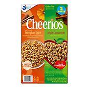 Pumpkin Spice and Apple Cinnamon Cheerios Cereal, 2 pk.