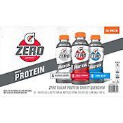 Gatorade Zero Sugar with Protein Sports Drinks Variety Pack, 15 pk./16.9 fl. oz.