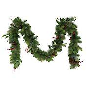 "Puleo International 9' x 10"" Decorated Christmas Garland"
