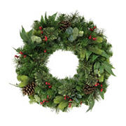 "Puleo International 24"" Decorated Christmas Wreath"
