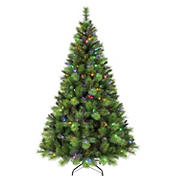Puleo International 7.5' Adirondack Pre-Lit Tree with 300 ct. Color-Select LED Lights