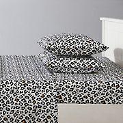 Joe Boxer Fun Prints Ultra Soft Smiley Leopard Sheet Set - Full