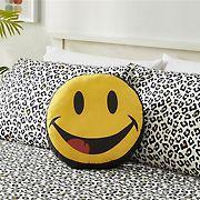 Joe Boxer Fun Prints Ultra Soft Smile Pillow - Yellow