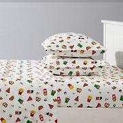 Joe Boxer Fun Prints Ultra Soft Fine Dining Sheet Set - Twin