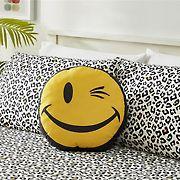 Joe Boxer Fun Prints Ultra Soft Smile Wink Pillow - Yellow
