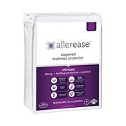 AllerEase Ultimate 240 Thread Count Queen Size Mattress Protector - White