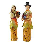 "10.5"" Pilgrim Autumn Harvest Table Top Decorations, 2 pk."