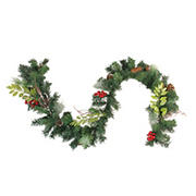 """Northlight 6' x 9"""" Pre-Decorated Frosted Pinecone and Berry Artificial Christmas Garland - Unlit"""