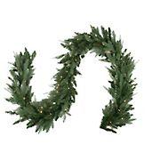 """Northlight 9' x 12"""" Pre-Lit Washington Frasier Fir Artificial Christmas Garland - Clear Dura-Lit Lights"""