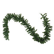 """Northlight 9' x 10"""" Pre-Lit LED Canadian Pine Artificial Christmas Garland - Clear Lights"""