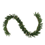"""Northlight 50' x 10"""" Pre-Lit Canadian Pine Commercial Artificial Christmas Garland - Clear Lights"""