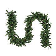 "Northlight 9' x 14"" Pre-Lit Canadian Pine Artificial Christmas Garland - Multi Lights"