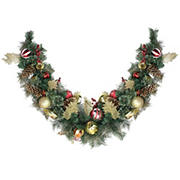 """Northlight 6' x 1"""" Foliage Pinecones and Berries Artificial Christmas Garland - Unlit"""