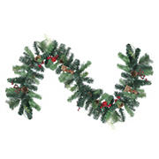 Northlight 6' Foliage with Pinecone and Berry Artificial Christmas Garland - Unlit