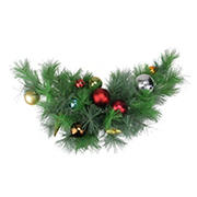 """Northlight 24"""" Pre-Decorated Multi-Color Ornament Long Needle Pine Artificial Christmas Swag - Unlit"""