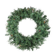 "Northlight 24"" Pre-lit Minetoba Pine Artificial Christmas Wreath - Multi Lights"