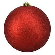 """Northlight 8"""" Holographic Glitter Shatterproof Christmas Ball Ornament - Red"""