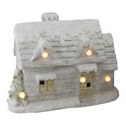 """Northlight 14.5"""" LED Lighted Musical Snowy Cottage Christmas Decor"""